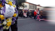 Crowds gathered on the Shankill Road for a service in The West Kirk Church to remember the victims of the Shankill bomb  20 years on. Picture By: Aidan O'Reilly Pacemaker