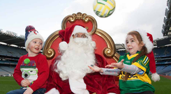 Time to deliver: Santa Claus will have his work cut out to bring sporting stars exactly what's on their wish list