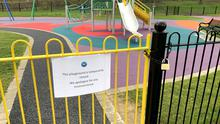 The newly refurbished Childrens play part in Ormeau Park PACEMAKER BELFAST  25/03/2020