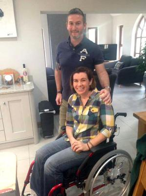 Together: Clodagh Dunlop and partner Adrian today