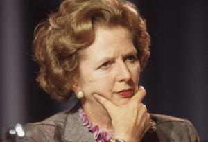 FILE - APRIL 8: Lord Bell, spokesperson for Baroness Margaret Thatcher, announced in a statement that the former British Prime Minister died peacefully following a stroke aged 87.   October 1985:  British prime minister Margaret Thatcher looking pensive at the Conservative Party Conference in Blackpool.  (Photo by Hulton Archive/Getty Images)