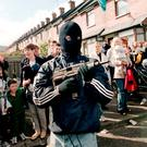 IRA terrorists on the streets of Belfast in 1997