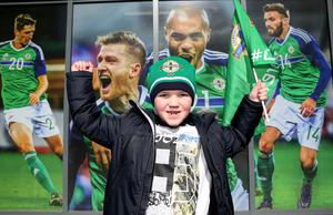 Press Eye - Belfast -  Northern Ireland - 24th March 2018 - Photo by William Cherry/Presseye  Northern Ireland fans during Saturday afternoons International Friendly against Korea Republic at the National Stadium at Windsor Park, Belfast.