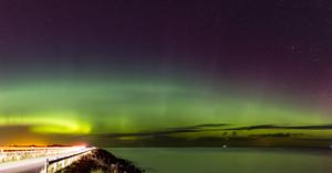 The Northern Lights, or Aurora Borealis, pictured from Ballyhalbert by Jonny Donnan