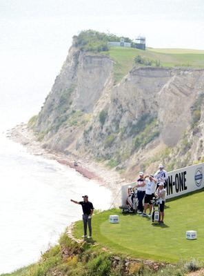 KAVARNA, BULGARIA - MAY 17:  Graeme McDowell of Northern Ireland on the 8th tee during the afternoon matches on day two of the Volvo World Match Play Championship at Thracian Cliffs Golf & Beach Resort on May 17, 2013 in Kavarna, Bulgaria.  (Photo by Ross Kinnaird/Getty Images)