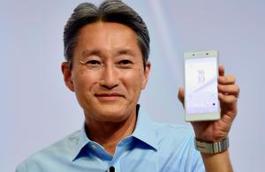 Japan's electronics giant Sony president Kazuo Hirai presents the companys new smartphone Xperia Z5 ahead of the opening of the 55th IFA (Internationale Funkausstellung), on September 2, 2015 in Berlin. IFA, one of the world's biggest consumer electronics shows, opens for the media before the public is invited from September 4 to 9. AFP PHOTO / JOHN MACDOUGALLJOHN MACDOUGALL/AFP/Getty Images