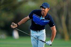 Rory McIlroy had to fight to card a one over par 73.