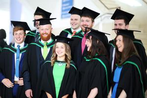 Students Graduating from Ulster University today . Pic by Paul Moane / Aurora PA