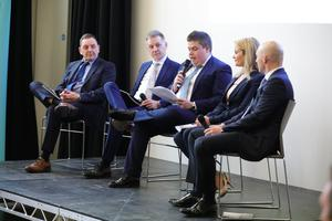 The panel at the launch of Manufacturing Month NI