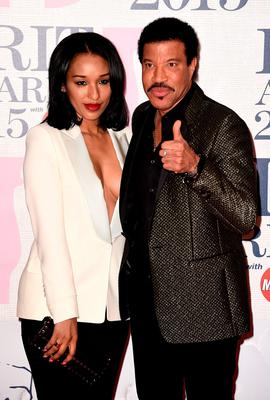LONDON, ENGLAND - FEBRUARY 25:  Lionel Ritchie and guest attend the BRIT Awards 2015 at The O2 Arena on February 25, 2015 in London, England.  (Photo by Ian Gavan/Getty Images)