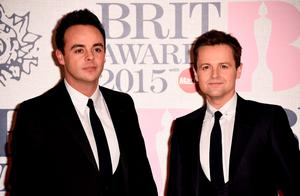 LONDON, ENGLAND - FEBRUARY 25:  Ant McPartlin and Declan Donnolly attend the BRIT Awards 2015 at The O2 Arena on February 25, 2015 in London, England.  (Photo by Ian Gavan/Getty Images)