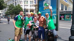 Northern Ireland fans in France