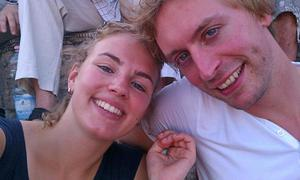 In this undated photo provided by Amsterdam student rowing club Skoll on Saturday, July 19, 2014, Karlijn Keijzer, left, a 25-year-old Dutch graduate student at Indiana University, and her boyfriend Laurens van der Graaff, right, are seen. Keijzer and van der Graaff were among those killed when a Malaysian jetliner was shot down over Ukraine on Thursday, July 17, 2014. Flight 17 from Amsterdam to Kuala Lumpur was carrying 298 people from 13 nations when it was shot down Thursday in eastern Ukraine close to the Russian border, an area that has seen months of clashes between government troops and pro-Russia separatists. (AP Photo/Amsterdam student rowing club Skoll)