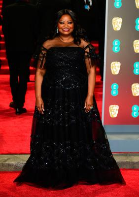 Octavia Spencer attending the EE British Academy Film Awards held at the Royal Albert Hall, Kensington Gore, Kensington, London.  PRESS ASSOCIATION Photo. Picture date: Sunday February 18, 2018. See PA Story SHOWBIZ Bafta. Photo credit should read: Ian West/PA Wire.