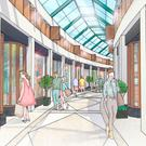 An artist's impression of an arcade in the Tribeca development