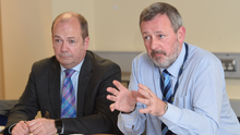 Chief Medical Officer Dr Michael McBride (left) and permanent secretary Richard Pengelly