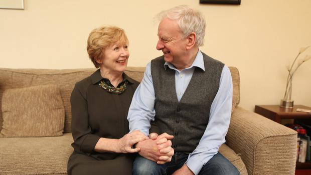 Former BBC presenter Seamus McKee at home in South Belfast with wife Brenda. Photo by Peter Morrison