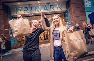 Sisters Christina and Nicole Robinson from the Shankill as Primark in Belfast city centre reopens on June 18th 2020 (Photo by Kevin Scott for Belfast Telegraph)