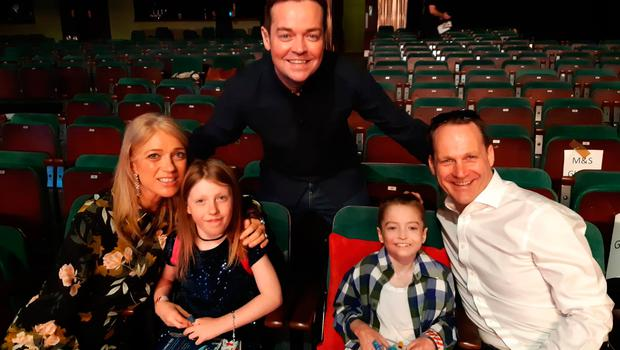 Charlie and his family at Britain's Got Talent