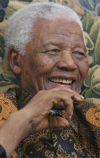 A photo taken in June 2008 of former South African President Nelson Mandela. By Johnny Green/PA Wire
