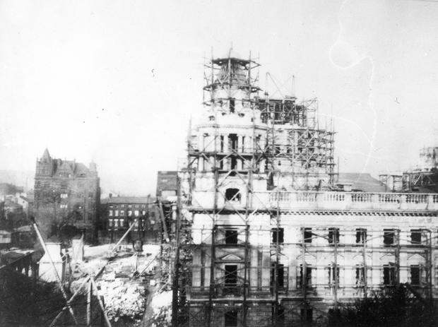 Belfast City Hall.  Donegall Square. Under construction in 1906 BELFAST TELEGRAPH ARCHIVE
