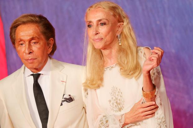 VENICE, ITALY - SEPTEMBER 02:  Valentino Garavani and Franca Sozzani  attends the premiere of 'Franca: Chaos And Creation' during the 73rd Venice Film Festival at Sala Giardino on September 2, 2016 in Venice, Italy.  (Photo by Vittorio Zunino Celotto/Getty Images)