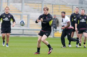 Press Eye Belfast - Northern Ireland 19th October  Ulster Rugby captain's run ahead of their Saturday night European Rugby Champions Cup game against the Exeter Chiefs at Kingspan Stadium.   Andrew Trimble  Picture by Jonathan Porter/Press Eye