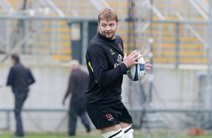 Press Eye Belfast - Northern Ireland 19th October  Ulster Rugby captain's run ahead of their Saturday night European Rugby Champions Cup game against the Exeter Chiefs at Kingspan Stadium.   Iain Henderson  Picture by Jonathan Porter/Press Eye