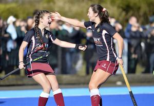 BRA's Abbie Braniff celebrates after netting her side's fourth goal.