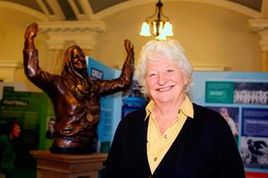 Defeat: Mary Peters at an exhibition launched by the Ulster Sports Museum Association in 2009