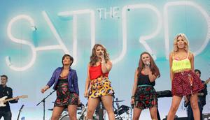 25.05.13. PICTURE BY DAVID FITZGERALD The 2nd day of the Radio 1 Big Weekend Festival in Londonderry-Derry yesterday. The Saturdays performing
