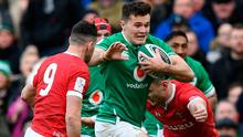 Jacob Stockdale in action during Ireland's win over Wales