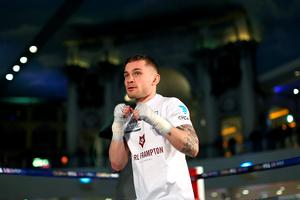 Carl Frampton takes part in a public work out at Intu Trafford Centre