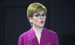 Nicola Sturgeon said the NRS age breakdown shows younger people can die as a result of Covid-19 (David Cheskin/PA)