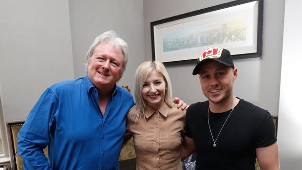 Nicole Adams with Charlie Lawson and her partner Ciaran McVarnock. Picture Colm O'Reilly 24-01-2020