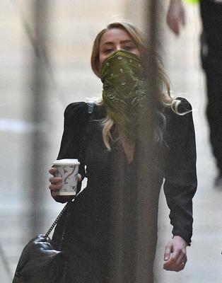 Actress Amber Heard arriving at the High Court in London (Victoria Jones/PA)