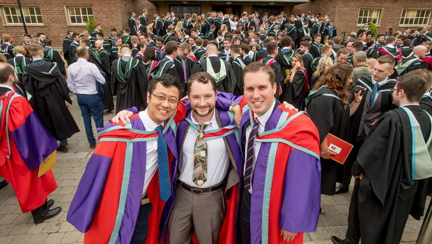 Zhile Yang, John Hastings and Philip Gillespie have all received PhDs in Electrical and Electronic Engineering from Queen's University Belfast