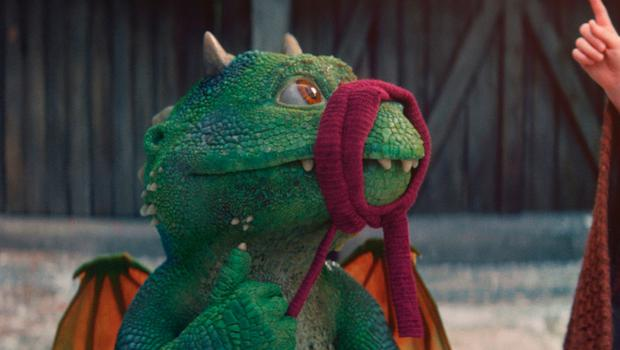 Edgar the dragon in the Christmas advert