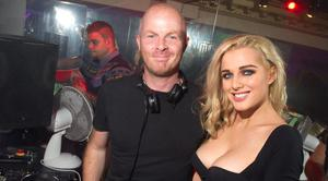 Actress Helen Flanagan visits Time Nightclub in the heart of Cookstown, Northern Ireland