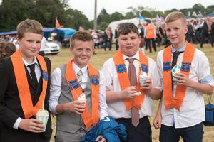 Timothy Sproule, Caleb Kerrigan, jake Sproule and William Kerrigan pictured in Donemana on the 12th of July 2019. Picture Martin McKeown. Inpresspics.com. 12.07.19