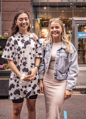 Friends Eimear Maguire from Lisburn and Amy Jackson from the Antrim Road as Primark in Belfast city centre reopens on June 18th 2020 (Photo by Kevin Scott for Belfast Telegraph)