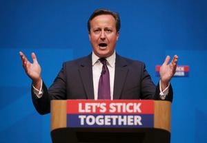 ABERDEEN, SCOTLAND - SEPTEMBER 15:  Prime Minister David Cameron addresses members of the No campaign on September 15, 2014 in Aberdeen,Scotland. The latest polls in Scotland's independence referendum put the No campaign back in the lead, the first time they have gained ground on the Yes campaign since the start of August.  (Photo by Peter Macdiarmid/Getty Images)