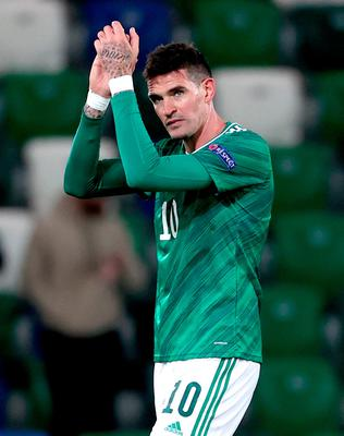 Kyle Lafferty returned to a Northern Ireland starting XI that included five changes.