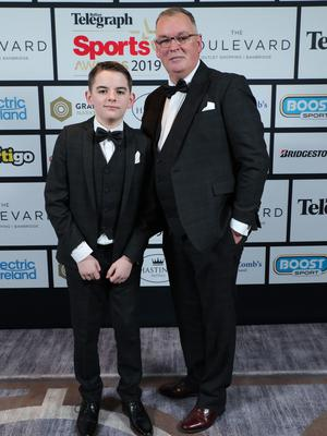 Press Eye - Belfast - Northern Ireland - 20th January  2020   Calum and Paul OÕNeill  pictured at the 2019 Belfast Telegraph Sport Awards at the Crowne Plaza Hotel in Belfast.  Photo by Kelvin Boyes / Press Eye.