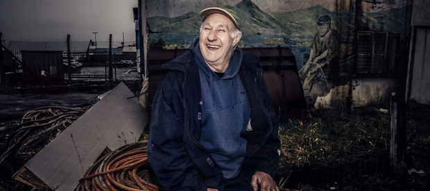 Retired fisherman Jackie Norman, seen here at Kilkeel Harbour in March 2019, was featured in the winning piece. Picture: Kevin Scott for Belfast Telegraph.
