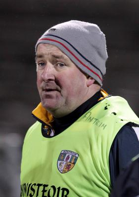 Antrim's Frank Fitzsimmons takes his competitive baptism tomorrow against St Mary's at Creggan