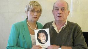 Stephen (right) and Breege Quinn, the parents of murder victim Paul Quinn, at the Europa Hotel in Belfast, as they have welcomed assurances from Northern Ireland's victims commissioner that their loss won't be ignored in wider efforts to support those bereaved in the region's conflict.