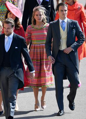 Cressida Bonas arrives at St George's Chapel at Windsor Castle for the wedding of Meghan Markle and Prince Harry. PRESS ASSOCIATION Photo. Picture date: Saturday May 19, 2018. See PA story ROYAL Wedding. Photo credit should read: Toby Melville/PA Wire