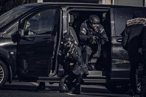 Armed police during Line of Duty filming on Cavehill Road and Sunningdale Park on March 15th 2020 (Photo by Kevin Scott for Belfast Telegraph)