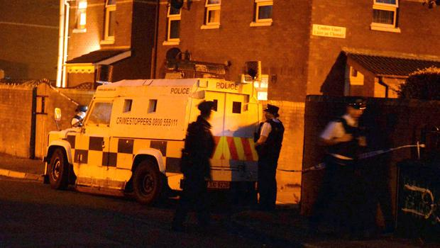 Scene of this evenings shooting in Comber Street in the Short Strand area of east Belfast. Photo Colm Lenaghan/Pacemaker Press